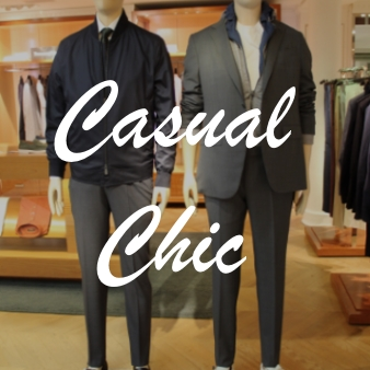 Homme shopping causal
